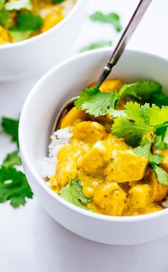 AWESOME Thai Yellow Chicken Curry - you seriously won't believe how easy this is to make. Adaptable to any protein or veggies you have on hand! | http://pinchofyum.com