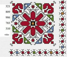 This Pin was discovered by Kra Biscornu Cross Stitch, Cross Stitch Borders, Cross Stitch Flowers, Cross Stitch Designs, Cross Stitching, Cross Stitch Patterns, Hungarian Embroidery, Folk Embroidery, Embroidery Patterns Free