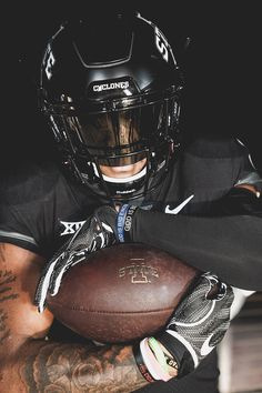 Blacked Out Cyclone Football Uniforms 10 14 18 On Behance Football Uniforms Football College Football Uniforms