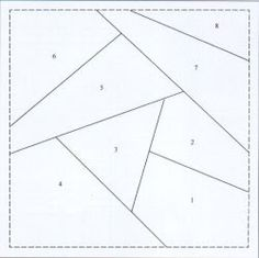 Crazy Quilt Block Templates   ... basic foundation piecing crazy quilt block to help you get started