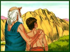 Free Bible images: Free Bible illustrations at Free Bible images of the miraculous birth of Isaac to Abraham and Sarah and how God tested Abraham's faith. Abraham Bible Crafts, Bible Story Crafts, Free Bible Images, Bible Pictures, Abraham And Sarah, Faith Crafts, Bible Topics, Book Of Genesis, Bible Illustrations