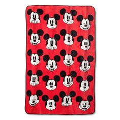 "Disney® Mickey Mouse Blanket - Red (62""x90"") : Target"