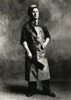 Butcher by Irving Penn Irving Penn Portrait, Old Photos, Vintage Photos, Carnicerias Ideas, Call Of Cthulhu, Butcher Shop, Working People, Working Men, Le Chef