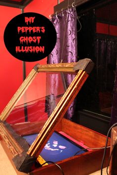 DIY Pepper's Ghost illusion: How-to, plus free animated floating head GIF.