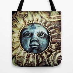 Sun face Tote Bag by LoRo  Art & Pictures - $22.00