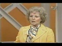 Match Game - Betty White hosts - She married the host of this show...Allen ???