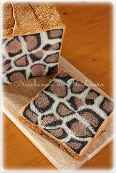 なっちゃんちのお台所 ヒョウ柄の食パン♪レシピ出来ました ヒョウ柄プルマン