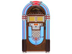 Based on a classic jukebox design, this ultimate entertainment companion is a treat for the eyes and ears.