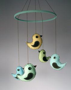 felt+birds+mobile++baby+mobile+crib+decor+in+pastel+by+PrettyPlush,+$79.00