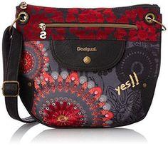 Oferta: 54€. Comprar Ofertas de Desigual BOLS_BROOKLYN  NEW RED - Bolso de hombro de material sintético mujer, color rojo, talla 31x27x1 cm (B x H x T) barato. ¡Mira las ofertas!