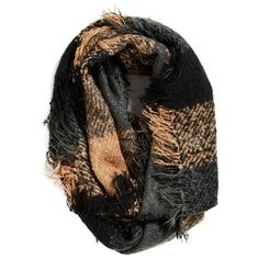 Collection XIIXPlaid Woven Infinity Scarf (€29) ❤ liked on Polyvore featuring accessories, scarves, black, infinity scarf, circle scarves, black circle scarf, circle scarf and plaid infinity scarf