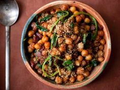 Fried Chickpeas with Chorizo and Spinach : Recipes : Cooking Channel