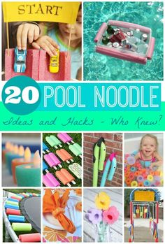 20 Pool Noodle Ideas and Hacks - Who Knew? Amazing Summer Ideas found on Frugal Coupon Living.