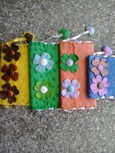 Creaciones Viky... Realiza monederos en foami y muchas cosas hermosas con  reciclaje...
