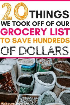 20 things to take off your grocery list to save money fast. Cut expenses with these personal finance tips to help you save money with frugal living. Create a grocery list on a budget. Printable grocery list to help you start eating healthy on a budget. Money Saving Meals, Save Money On Groceries, Ways To Save Money, Money Tips, Money Savers, Groceries Budget, Free Groceries, Money Budget, Living On A Budget