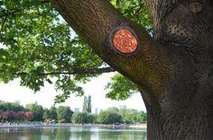 Park project by NeSpoon, Ceramic tree art