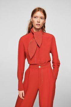 blusa lazo costuras contraste mango ropa | Galería de fotos 3 de 100 | StyleLovely