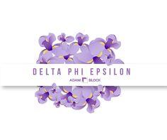 Looking for custom Delta Phi Epsilon shirts with endless design options? Adam Block makes it easy! • www.adamblockdesi...