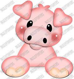 S~ 3D PIG ~ Scrapbook Embellishment TM327