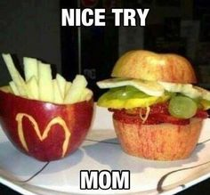 """Healthy snack for kids! The only """"McDonald's"""" my future kids will ever eat!!"""