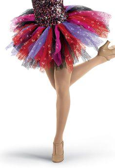 "Colorful Shredded Glitter Tutu; Weissman Costumes ""vogue"""