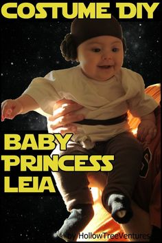 Princess Leia Halloween costume DIY tutorial.