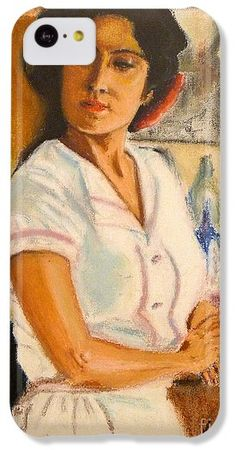 Oil Pastel IPhone 5c Case featuring the photograph Lady In Waiting by Lance Sheridan-Peel