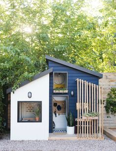 house design design exterior paint The Little Merc Modern Playhouse Reveal and Sherwin's 2020 Color of the Year The Little Merc Modern Playhouse Reveal und Sherwins Farbe des Jahres 2020 Vintage Revivals