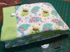 """Self Binding Fleece Baby Blanket 34 x 44"""""""