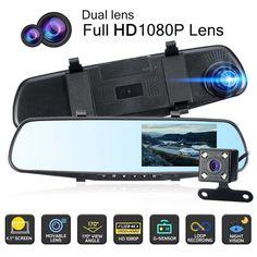 Dvr Camera, Back Camera, Digital Video Recorder, Memoria Ram, Monitor, Car Rear View Mirror, Dark Places, Dashcam, Display Screen