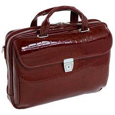 "Siamod Servano Leather 13.3"" Netbook Brief - Cherry Red - http://www.rekomande.com/siamod-servano-leather-13-3-netbook-brief-cherry-red/"