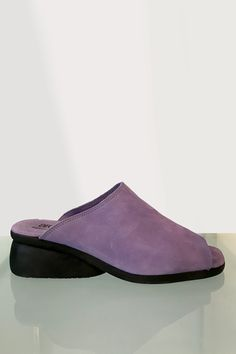 Nubuck sandals with a natural latex (lactae hevea) sole. This style fits smaller than usual. ALL SHOES ARE FINAL SALE Made in France Colour: Glycine Purple France Colors, Natural Latex, Shoe Sale, Slip On, Purple, My Style, Sneakers, Final Sale, Colour