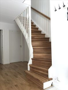 Basement Stairs, House Stairs, Stairways, Future House, Entrance, Sweet Home, Floor Plans, Cottage, House Design