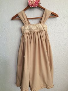 Pinafore with vintage lace bodice