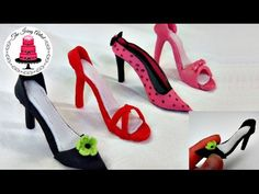 Mini Fondant High Heel Shoe - How To With The Icing Artist - YouTube