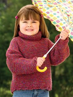 Knitting - Patterns for Children & Babies - Sweater Patterns - Flipped-Edge Pullover