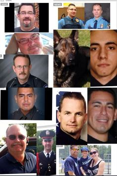 Here are a few faces of a few officers who were killed trying to detain their suspects over the last few weeks. They were conducting routine traffic stops and questioning incidents that they were called to, including the dog. You don't hear about the hundreds of incidents like this that happen every year. why wouldnt the officers lives be nearly as important as a common criminal.
