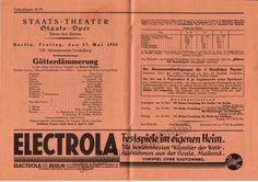 Blech, Leo - Two Opera Programs Berlin 1927-1929