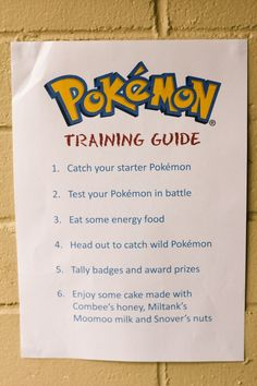 Here you'll see a checklist of your biggest needs, plus get a few Pokemon party…