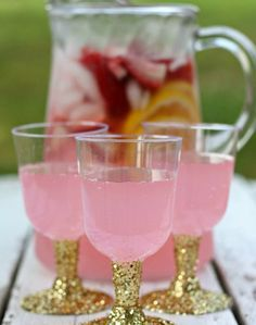 """Glitter Party Cups + A """"Mocktail"""" 