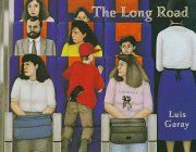 The Long Road by Luis Garay http://www.amazon.com/dp/0887764088/ref=cm_sw_r_pi_dp_Caq9vb01W06Y2 Forced to flee their village because of civil war in Nicaragua, Jose and his mother struggle to create a new life for themselves in North America.