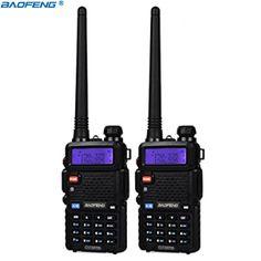 CB radio transceptor baofeng UV5R BaoFeng UV-5R walkie talkie profesional 5 W de Radio de Doble Banda VHF y UHF de mano de dos forma de radio