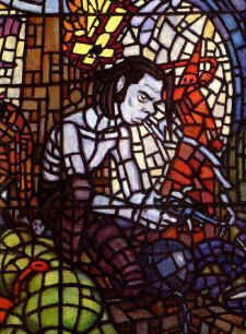 Nick Cave Stain Glass [by ? Lovely Eyes, Stunning Eyes, Red Right Hand, The Bad Seed, Nick Cave, Aesthetic People, In This World, Stained Glass, Spiderman