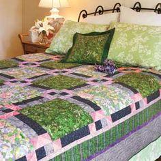 Winter's Promise: Floral Springtime Bed Quilt Pattern