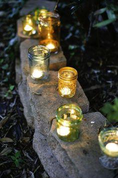 Décoration de jardin romantique