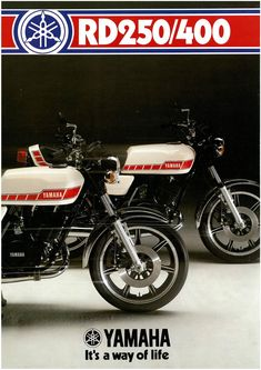 YAMAHA Brochure RD400 RD400E RD250 RD250E 1978 Sales Catalog Catalogue REPRO…