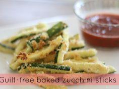 baked zucchini sticks!