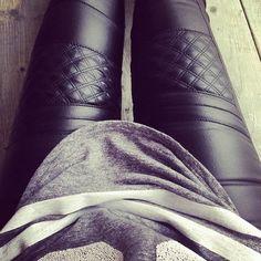 Moto leather leggings - what!!