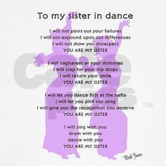 T-shirt with poem for all us belly dance sisters.