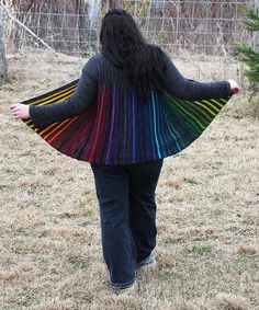 Preciouslyinked's AMAZING rainbow Wollmeise Moore is finished. Doesn't it look fantastic?